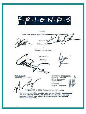 Friends Signed Script  The One Where Ross And Rachel You Know  Jennifer Aniston
