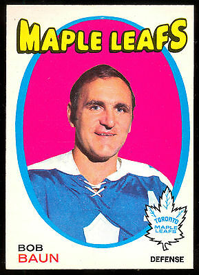 1971 72 Opc O Pee Chee Hockey #196 Bob Baun Nm Toronto Maple Leafs Card