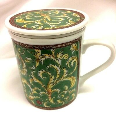 Windfield Tea Cup With Tea Infuser Strainer & Lid Coaster