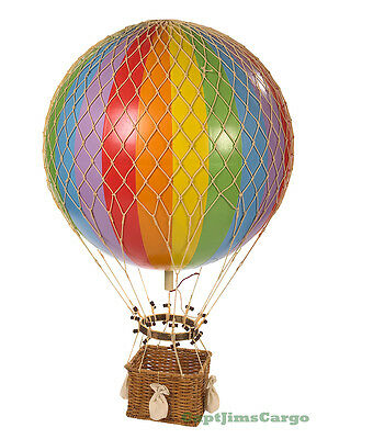 "XL Hot Air Balloon Rainbow 17"" Hanging Aircraft Ceiling Home Decor New"