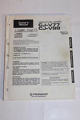 Pioneer Laser Juke Disc Jukebox CJ-V77 V99 Manual-  Original