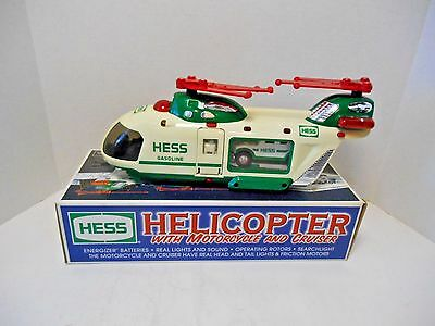 2001 Hess Gasoline   'Hess Helicopter with MotorCycle and Cruiser'
