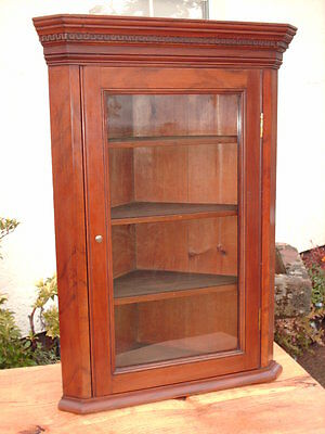 Antique Mahogany  Corner  Display  Cabinet