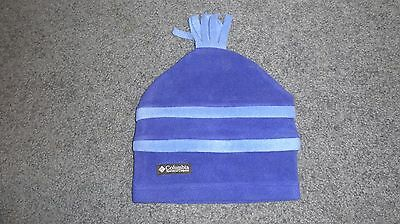 Boys Girls Womens Blue Columbia Winter Hat Youth Size L XL