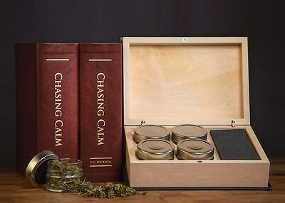 Discreet Cannabis Storage Book (Oxblood) - Christmas Gift for Stoners