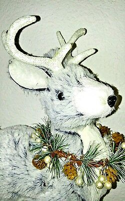 New SPARKLES Soft plush Reindeer for Christmas holiday mantle display