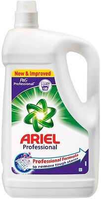 Ariel Laundry Liquid 100 Wash 5L Bottle Washing Detergent Clothes Strong Stains