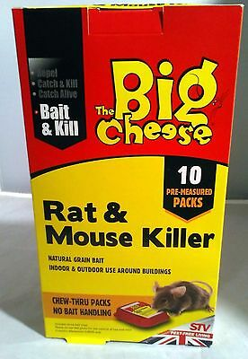 400g Bait Kill Repel RAT MOUSE Natural KILLER  IN/OUTDOOR Chew Tru Packs x 10
