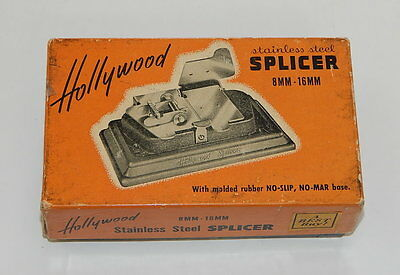 Vintage Hollywood Stainless Steel 8mm - 16mm Film Splicer R11988