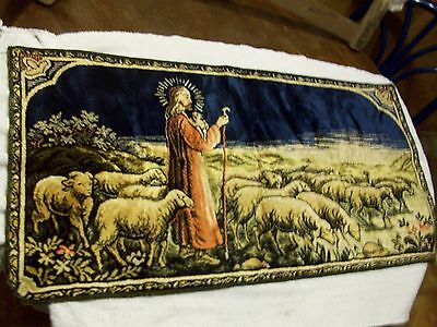 vintage religious tapestry