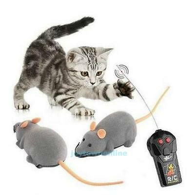 Wireless Remote Control RC Rat Mouse Mice For Cat Dog Pet Toy Funny Novelty Gift