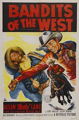 BANDITS OF THE WEST Movie POSTER 27x40