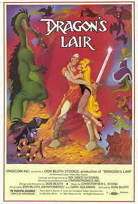 DRAGON'S LAIR Movie POSTER 27x40