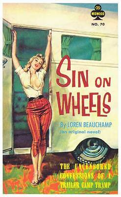 SIN ON WHEELS Movie POSTER 11x17 Retro Book Cover