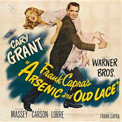 ARSENIC AND OLD LACE Movie POSTER 30x30 Cary Grant Priscilla Lane Raymond Massey