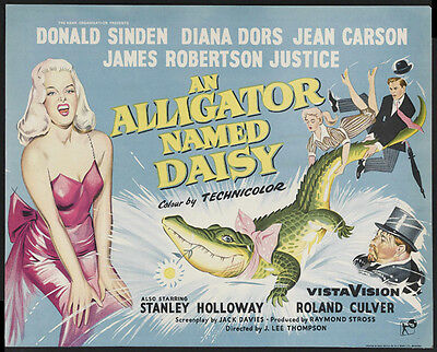 AN ALLIGATOR NAMED DAISY Movie POSTER 30x40 Donald Sinden Jeannie Carson James