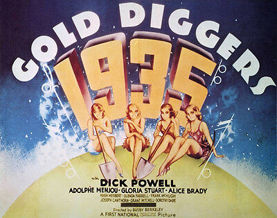 GOLD DIGGERS OF 1935 Movie POSTER 22x28 Half Sheet Dick Powell Adolphe Menjou