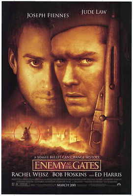 ENEMY AT THE GATES Movie POSTER 27x40 Jude Law Ed Harris Joseph Fiennes Rachel