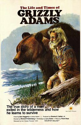 THE LIFE AND TIMES OF GRIZZLY ADAMS Movie POSTER 11x17 Dan Haggerty Denver Pyle