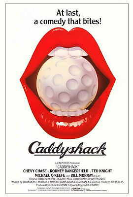 CADDYSHACK Movie POSTER 27x40 B Chevy Chase Rodney Dangerfield Ted Knight