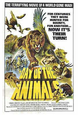 DAY OF THE ANIMALS Movie POSTER 27x40 Christopher George Leslie Nielsen Lynda