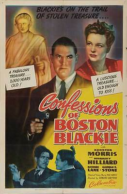 CONFESSIONS OF BOSTON BLACKIE Movie POSTER 27x40