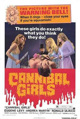 CANNIBAL GIRLS Movie POSTER 27x40 Eugene Levy Andrea Martin Ronald Ulrich
