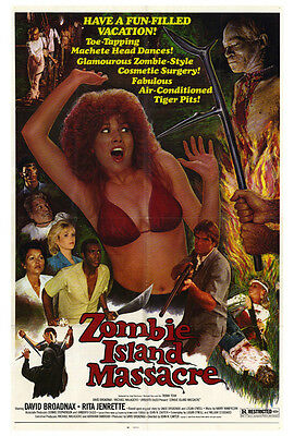 ZOMBIE ISLAND MASSACRE Movie POSTER 27x40 David Broadnax Tom Cantrell Debbie