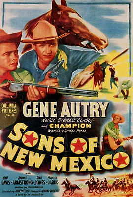 SONS OF NEW MEXICO Movie POSTER 27x40 Gene Autry Champion Gail Davis Robert