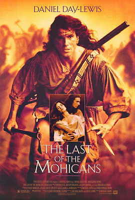 THE LAST OF THE MOHICANS Movie POSTER 27x40 Daniel Day-Lewis Madeleine Stowe