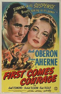 FIRST COMES COURAGE Movie POSTER 27x40