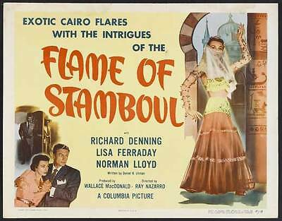 FLAME OF STAMBOUL Movie POSTER 22x28 Half Sheet Richard Denning Lisa Ferraday