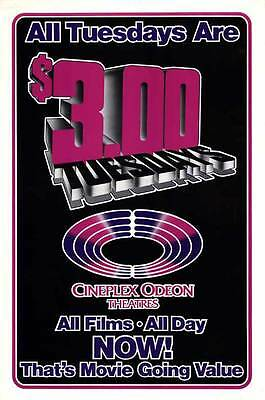 CINEPLEX ODEON TUESDAYS Movie POSTER 27x40