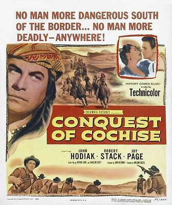 CONQUEST OF COCHISE Movie POSTER 27x40 John Hodiak Robert Stack Joy Page Rico