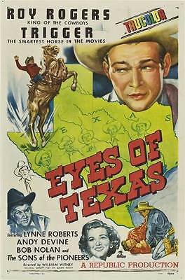EYES OF TEXAS Movie POSTER 27x40