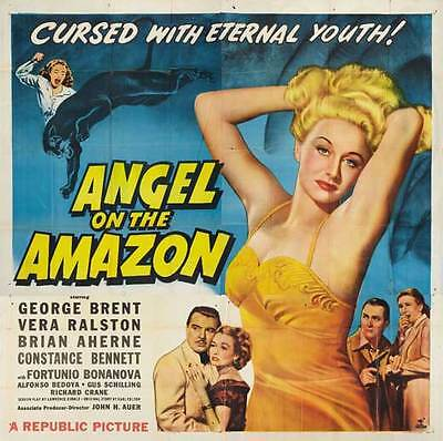 ANGEL ON THE AMAZON Movie POSTER 30x30 George Brent Vera Ralston Brian Aherne
