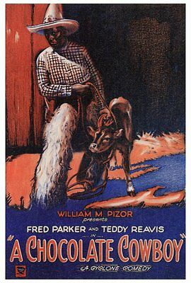 A CHOCOLATE COWBOY Movie POSTER 27x40 Fred Parker Teddy Reavis