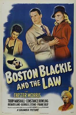 BOSTON BLACKIE AND THE LAW Movie POSTER 27x40