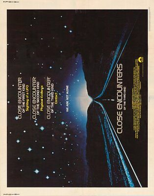 CLOSE ENCOUNTERS OF THE THIRD KIND Movie POSTER 22x28 Half Sheet Richard