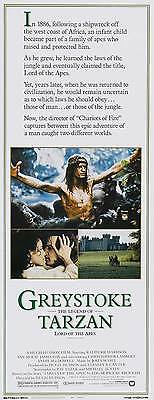 GREYSTOKE: THE LEGEND OF TARZAN, LORD OF THE APES Movie POSTER 14x36 Insert
