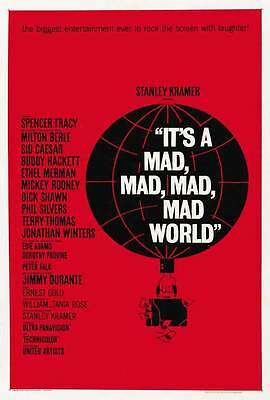 IT'S A MAD MAD MAD MAD WORLD Movie POSTER 27x40 C Spencer Tracy Sid Caesar