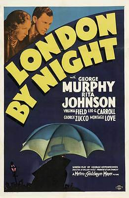 LONDON BY NIGHT Movie POSTER 27x40