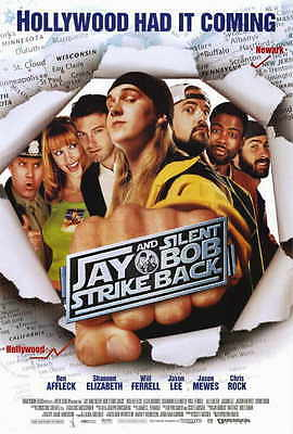JAY AND SILENT BOB STRIKE BACK Movie POSTER 27x40 Kevin Smith Jason Mewes Jason