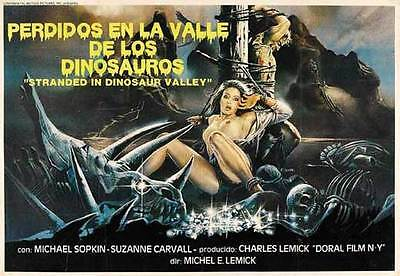 MASSACRE IN DINOSAUR VALLEY Movie POSTER 22x28 Half Sheet Michael Sopkiw Suzane