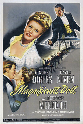 MAGNIFICENT DOLL Movie POSTER 27x40