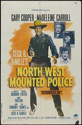 NORTH WEST MOUNTED POLICE Movie POSTER 27x40 D