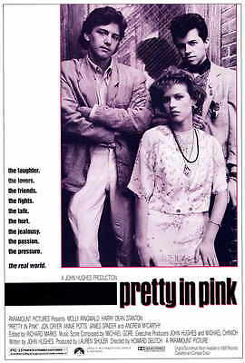 PRETTY IN PINK Movie POSTER PRINT 27x40 Molly Ringwald Andrew McCarthy Jon Cryer