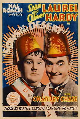 SONS OF THE DESERT Movie POSTER 27x40 B Stan Laurel Oliver Hardy Mae Busch