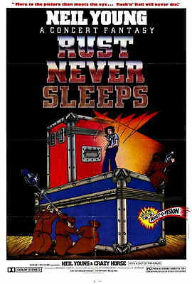 RUST NEVER SLEEPS Movie POSTER 27x40 Neil Young Ralph Molina Frank 'Pancho'