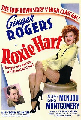 ROXIE HART Movie POSTER 27x40 Ginger Rogers Adolphe Menjou George Montgomery